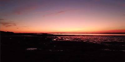 Aerial-Filming Sunset East Head