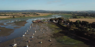 Aerial Filming of Dell-Quay Chichester Harbour