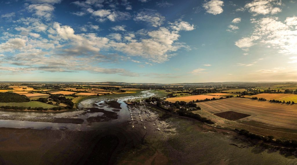 Aerial Photo Dell Quay Chichester Harbour