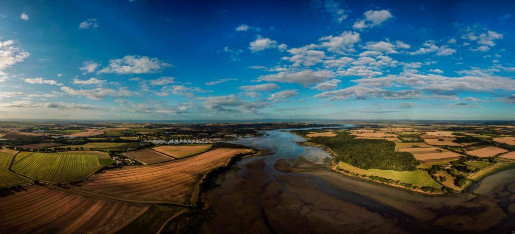 Aerial Photo Panoramic Chichester Harbour